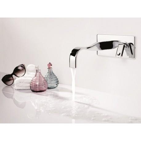 Rubinetto lavabo monoleva a parete RITMONIO serie Nastro