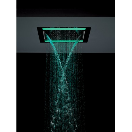Soffione doccia cromoterapia ib rubinetterie serie aquabeat mod medium plus hll store - Soffione doccia incasso ...